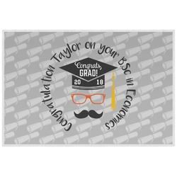 Hipster Graduate Placemat (Laminated) (Personalized)
