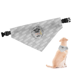 Hipster Graduate Dog Bandana - Large (Personalized)