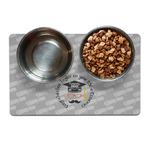 Hipster Graduate Pet Bowl Mat (Personalized)