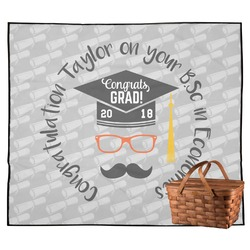 Hipster Graduate Outdoor Picnic Blanket (Personalized)
