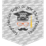 Hipster Graduate Iron On Faux Pocket (Personalized)