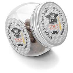 Hipster Graduate Puppy Treat Jar (Personalized)