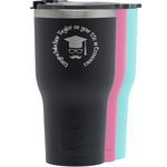 Hipster Graduate RTIC Tumbler - Black (Personalized)