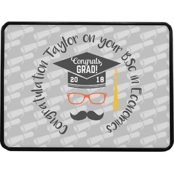 """Hipster Graduate Rectangular Trailer Hitch Cover - 1.25"""" (Personalized)"""