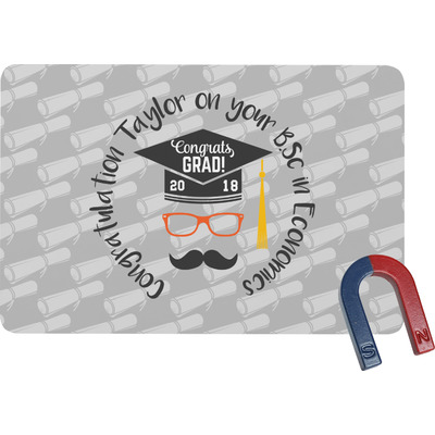 Hipster Graduate Rectangular Fridge Magnet (Personalized)