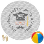 Hipster Graduate Round Beach Towel (Personalized)