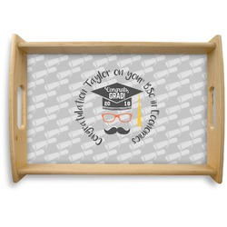 Hipster Graduate Natural Wooden Tray (Personalized)
