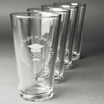 Hipster Graduate Beer Glasses (Set of 4) (Personalized)