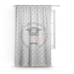 Hipster Graduate Sheer Curtains (Personalized)