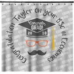 Hipster Graduate Shower Curtain (Personalized)