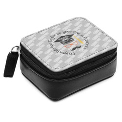 Hipster Graduate Small Leatherette Travel Pill Case (Personalized)