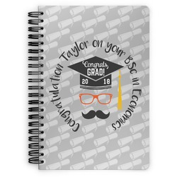 Hipster Graduate Spiral Bound Notebook (Personalized)