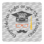 Hipster Graduate Square Decal (Personalized)