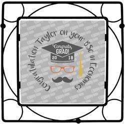 Hipster Graduate Square Trivet (Personalized)
