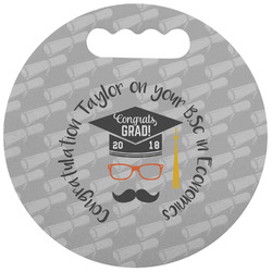Hipster Graduate Stadium Cushion (Round) (Personalized)