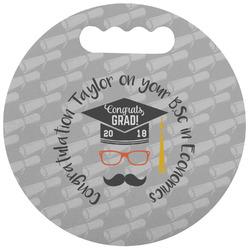 Hipster Graduate Stadium Cushion (Round) (Personalized)