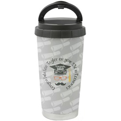 Hipster Graduate Stainless Steel Travel Mug (Personalized)