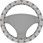 Hipster Graduate Steering Wheel Cover (Personalized)