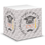 Hipster Graduate Sticky Note Cube (Personalized)