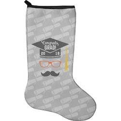 Hipster Graduate Holiday Stocking - Neoprene (Personalized)