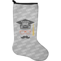 Hipster Graduate Christmas Stocking - Neoprene (Personalized)