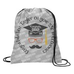 Hipster Graduate Drawstring Backpack (Personalized)