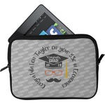 Hipster Graduate Tablet Case / Sleeve (Personalized)