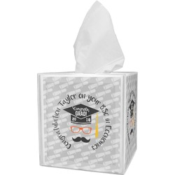 Hipster Graduate Tissue Box Cover (Personalized)