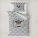 Hipster Graduate Toddler Bedding w/ Name or Text