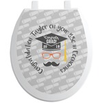Hipster Graduate Toilet Seat Decal (Personalized)