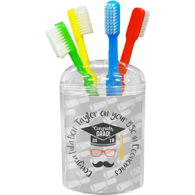 Hipster Graduate Toothbrush Holder (Personalized)