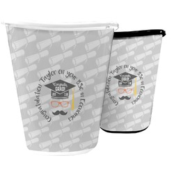 Hipster Graduate Waste Basket (Personalized)