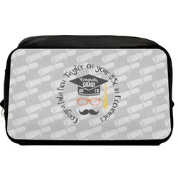 Hipster Graduate Toiletry Bag / Dopp Kit (Personalized)