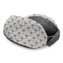 Hipster Graduate Travel Neck Pillow (Personalized)