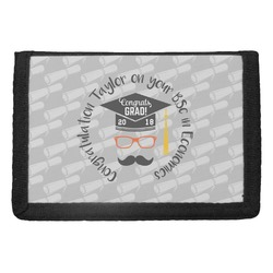 Hipster Graduate Trifold Wallet (Personalized)