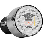 Hipster Graduate USB Car Charger (Personalized)