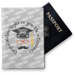 Hipster Graduate Vinyl Passport Holder (Personalized)