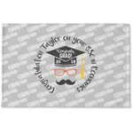 Hipster Graduate Woven Mat (Personalized)