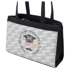 Hipster Graduate Zippered Everyday Tote (Personalized)