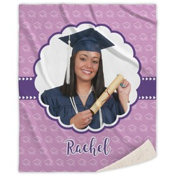 Graduation Sherpa Throw Blanket (Personalized)