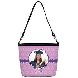 Graduation Bucket Bag w/ Genuine Leather Trim (Personalized)