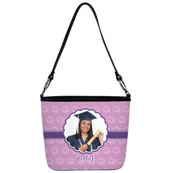 Graduation Bucket Bag w/ Genuine Leather Trim (Personalized)