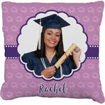 Graduation Faux-Linen Throw Pillow (Personalized)