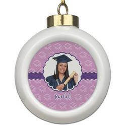 Graduation Ceramic Ball Ornament (Personalized)