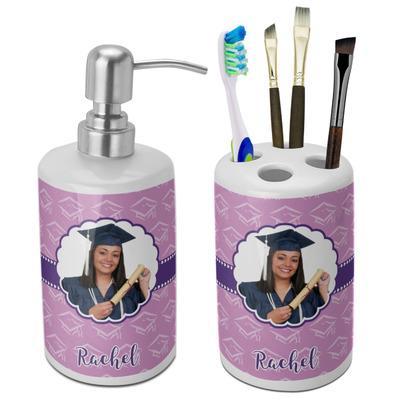 Graduation Ceramic Bathroom Accessories Set (Personalized)