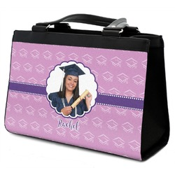 Graduation Classic Tote Purse w/ Leather Trim (Personalized)