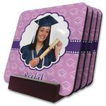 Graduation Coaster Set w/ Stand (Personalized)