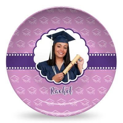 Graduation Microwave Safe Plastic Plate - Composite Polymer (Personalized)