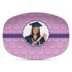Graduation Plastic Platter - Microwave & Oven Safe Composite Polymer (Personalized)