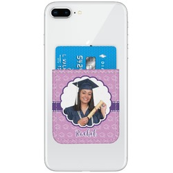 Graduation Genuine Leather Adhesive Phone Wallet (Personalized)
